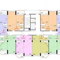 ЖК Лазурный, Секция 1А - 4 этаж