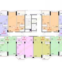 ЖК Лазурный, Секция 1А - 5 этаж