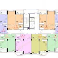 ЖК Лазурный, Секция 1А - 6 этаж