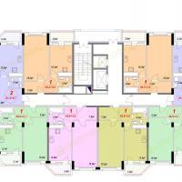 ЖК Лазурный, Секция 1А - 7 этаж