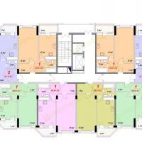 ЖК Лазурный, Секция 1А - 8 этаж