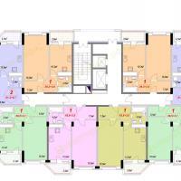 ЖК Лазурный, Секция 1А - 9 этаж