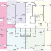 Секция 10 этаж 1-9 Планировка ЖК Лазурное побережье