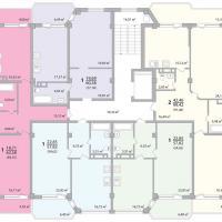 Секция 11 этаж 1-9 Планировка ЖК Лазурное побережье