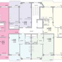 Секция 12 этаж 1-9 Планировка ЖК Лазурное побережье