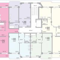 Секция 3 этаж 1-9 Планировка ЖК Лазурное побережье