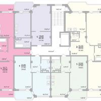Секция 4 этаж 1-9 Планировка ЖК Лазурное побережье