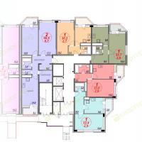 ЖК Лазурный, планировка секции 4, этаж 1