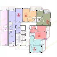 ЖК Лазурный, планировка секции 4, этаж 10