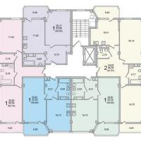 Секция 6 этаж 3-5 Планировка ЖК Лазурное побережье