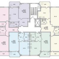 Секция 6 этаж 6-9 Планировка ЖК Лазурное побережье