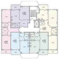 Секция 7 этаж 2 Планировка ЖК Лазурное побережье