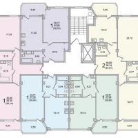 Секция 7 этаж 3-5 Планировка ЖК Лазурное побережье