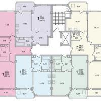 Секция 7 этаж 6-9 Планировка ЖК Лазурное побережье