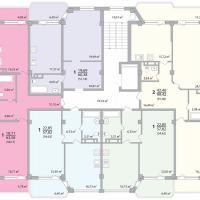 Секция 9 этаж 1-9 Планировка ЖК Лазурное побережье