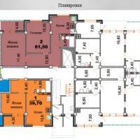 планировки ЖК Некрасовский 1 секция, 1 этаж