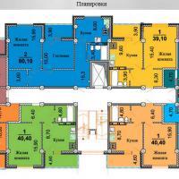 планировки ЖК Некрасовский 1 секция, 2-9 этаж