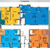 планировки ЖК Некрасовский 2 секция, 2-9 этаж