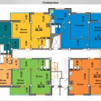 планировки ЖК Некрасовский 3 секция, 2-9 этаж