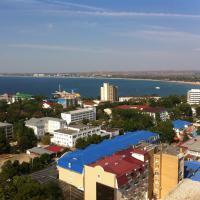 вид с 19 этажа ЖК на Крепостной на море и город