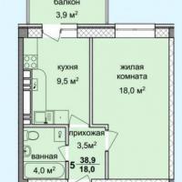 жк спектр, планировка, однокомнатная квартира