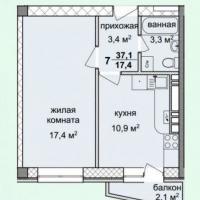 жк спектр, планировка, 1 комнатная квартира