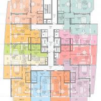 жк на крпостной, план 11-13 этажа