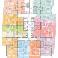 жк на крпостной, план 14-18 этажа
