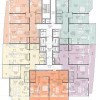 жк на крпостной, план 19-20 этажа