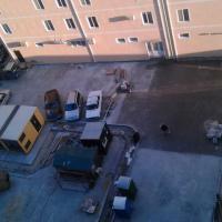 жк Радонеж вид сверху на двор, асфальт уже почти везде положен