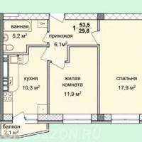 жк спектр, планировка, 2-х комнатная квартира