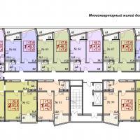 жк Лермонтово в Анапе, 2 очередь, этаж 9