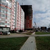 ЖК Радонеж  с перекрестка ул. Ленина, бульвар Евскина,  февраль 2015