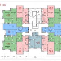 Планировка квартир 2-4 этаж