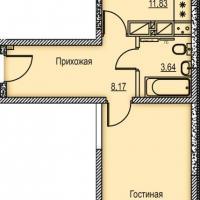 Типовая квартира - распашонка - планировка