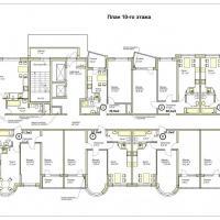 ЖК Меркурий планировка 10 этажа