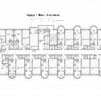 ЖК Кавказ, этап 3, планировка этажа 12