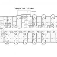 ЖК Кавказ, этап 3, планировка этажа 13