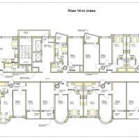 ЖК Меркурий планировка 14 этажа