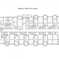 ЖК Кавказ, этап 3, планировка этажа 15