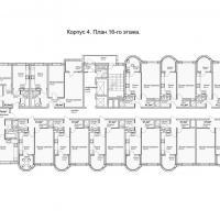 ЖК Кавказ, этап 3, планировка этажа 16