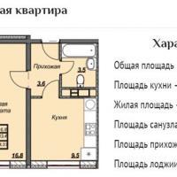ЖК Триумф планировка 1-комнатная 34,33 кв.м.