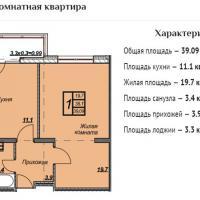 ЖК Триумф планировка 1-комнатная 57,15 кв.м.