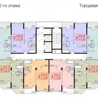жк Владимирская 150, 1 секция, 12 этаж