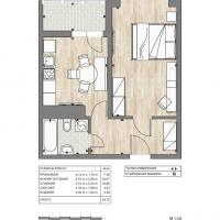 ЖК Южный квартал, планировка 1 комнатной квартиры (5)