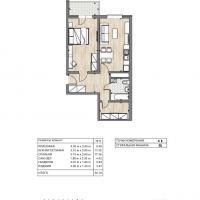 ЖК Южный квартал, планировка 1 комнатной квартиры (3)
