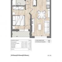 ЖК Южный квартал, планировка 1 комнатной квартиры (1)