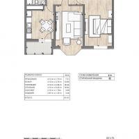 ЖК Южный квартал, планировка 2 комнатной квартиры (1)