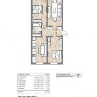 ЖК Южный квартал, планировка 3 комнатной квартиры
