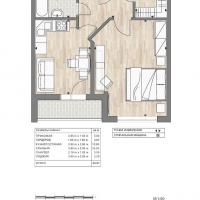 ЖК Южный квартал, планировка 1 комнатной квартиры (4)
